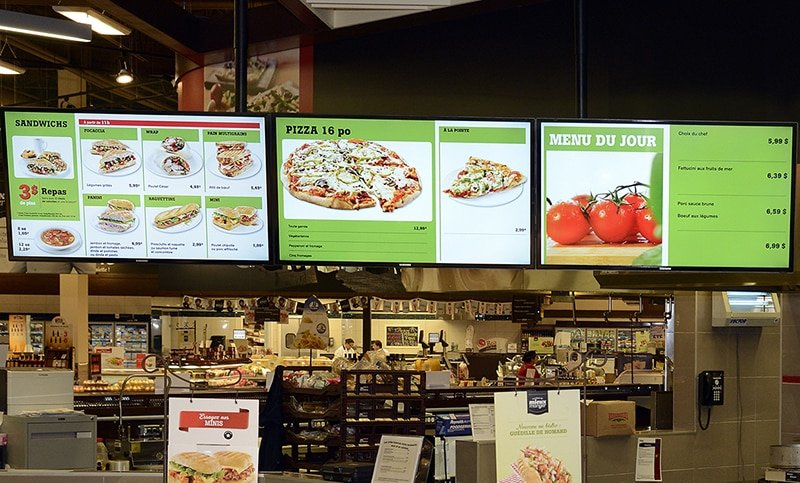Digital Menu Screens