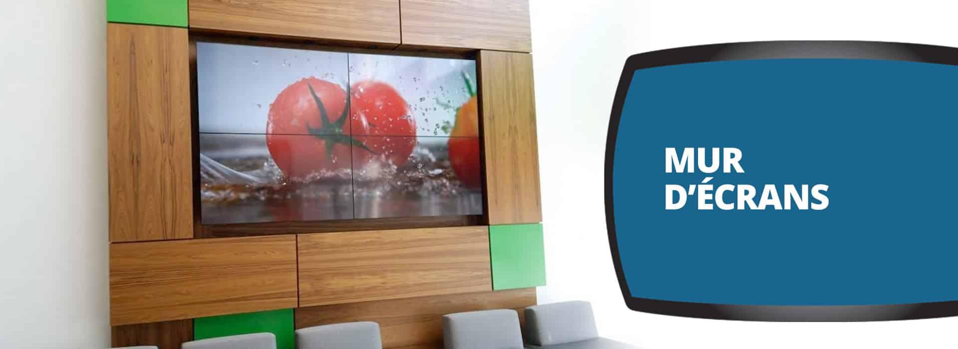 Mur d'écrans