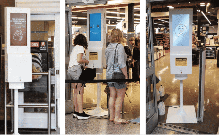 The DSK – the all-in-one Digital Hand Sanitizer Kiosk – passed its performance tests!